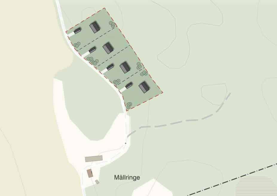 Lediga tomter i Västerås Mällringehöjden